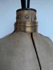 VINTAG 90s Christian Dior Jadore Gold Wire Choker John Galliano Necklace RARE