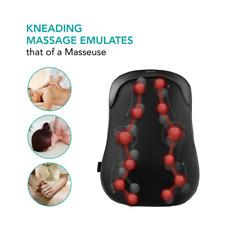 Back Massager Shiatsu Deep Kneading Heated Massage Cushion for Car Seat, Chair