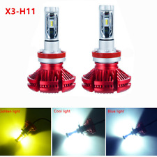 50W H11 7200LM Lumiled LED Headlight Low Beam Bulb 3000K 6500K 8000K DIY Color