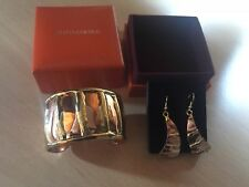 Luxury Rare Old Florence Ladies Jewellery Set Copper Earrings & Copper Bangle