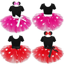 Kids Girls Polka Dots Tutu Dress Outfit Princess Fancy Clothes Cosplay Costume