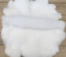 Real Rabbit Fur  Real Fur Carpet Rug Throw Leather Pelt Cosy Suitable 8-14''
