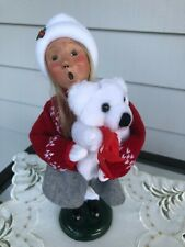 Byers Choice 2001 Girl Holding Teddy Bear - Talbots Exclusive
