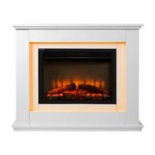 Devanti EFLB2000FRAMEWH 2000W Electric Fireplace Mantle Portable Fire Log Wood Heater