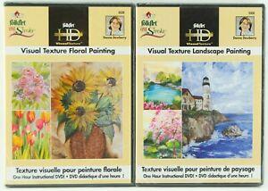 FolkArt One Stroke Donna Dewberry 2 Pc DVD Set Landscape & Floral Painting