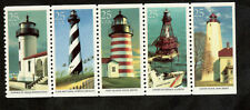 2470-4 Famous United States Lighthouses Strip Of 5 Mint/nh Free Shipping