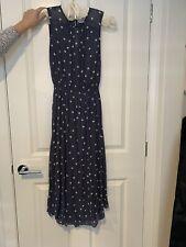 Witchery Polka Dot Dress - Size 8 - Navy