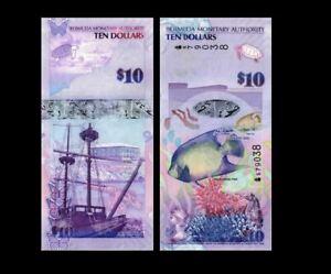 BERMUDA 10 DOLLARS 2009 YEAR P 59 UNC