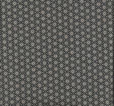 'Pièce de tissu Japonais Coupon Asanoha étoile 54x45 cm Noir/écru