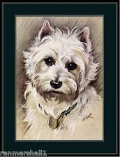 English Picture Print West Highland Terrier Dog Art