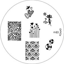 Konad stamping galería de símbolos m83 plate Nails Nail Art Stamp