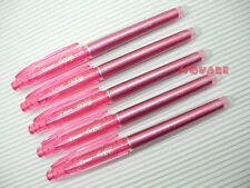 5 x Pilot FriXion 0.4mm Extra Fine Erasable Needle Tip Rollerball Pen, Pink