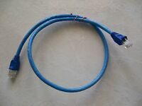 50 - 1' FT CAT5e PATCH CORD ETHERNET NETWORK CABLE BLUE Tuff Jacks Quality!