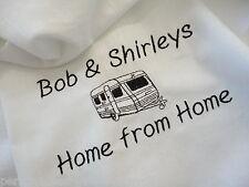 Personalised Caravan Teatowel  *Home from Home Design*