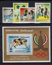 Irak 1048/51 Bl. 33 postfrisch / Olympiade ............
