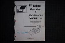 BOBCAT MT52 MINI TRACK LOADER Operation Maintenance Manual operator guide 2004