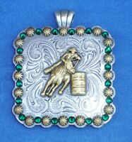 """Western Cowgirl Jewelry ~Barrel Racer~ Crystal 2 1/4"""" Concho Pendant Kit"""