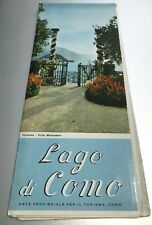 Lago Di Como Area Italy Tourist Map - Guide Vintage