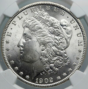 1902 O UNITED STATES of America SILVER Morgan US Dollar Coin EAGLE NGC i89166