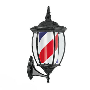 ROTATING BARBER POLE BARBER ,SALON (RED, BLUE, WHITE STRIPES OUTDOOR INDOOR USE)