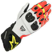 Alpinestars GP Pro R2 Racing Kevlar Motorcycle Motorbike Gloves Black White Red