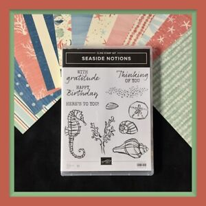 Stampin' Up! SEASIDE NOTIONS Stamp Set & BY THE SHORE DSP