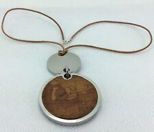 "Alviero Martini Geo Pendant Rope necklace 925 Silver Lobster Clasp 18""/46cm"