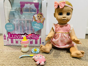 LUVABELLA INTERACTIVE  REALISTIC BLONDE DOLL FULLY WORKING ALL ACCESSORIES & BOX