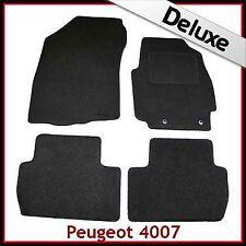 PEUGEOT 4007 2007-2012 1300g DI LUSSO SU MISURA TAPPETINI AUTO MOQUETTE NERA