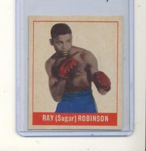 1948 Leaf boxing card RC Rookie Ray ( sugar ) Robinson