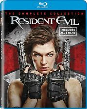 PRE  ORDER: RESIDENT EVIL + AFTERLIFE + APOCALPYSE 6 disc- BLU RAY - Region free