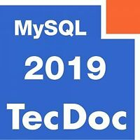 TecAlliance TecDoc 2Q 2019 MySQL + images + pdfs + php scripts