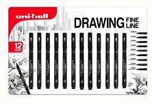 Uni pin fine dessin stylo 12 Pack - 0.05, 0.1, 0.2, 0.3, 0.4, 0.5, 0.6, 0.7, 0.8