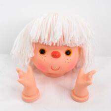 """Vintage Westrim Crafts Mitzy 4"""" Doll Head + Hands Yarn Hair White"""