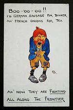 WW1 Postcard Langshaw Street Old Trafford Manchester M16 German Sausage Comic