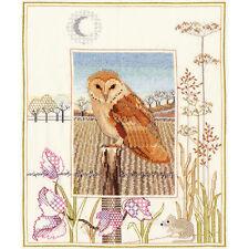 Derwentwater Designs Wildlife Cross Stitch Kit - Barn Owl