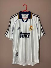 Real Madrid 1998-2000 Vintage Home Football Shirt Adidas Soccer Jersey size S