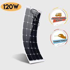 12V Flexible Solar Panel 120W Monocrystalline Caravan Camping