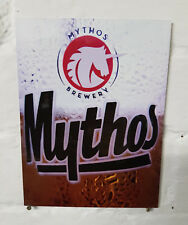 Mythos  Retro metal Aluminium Sign greek greece larger beer signs pub bar cave