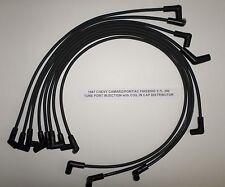 CHEVY CAMARO / PONTIAC FIREBIRD 1987 5.7L 350 TPI 8mm BLACK Spark Plug Wires!