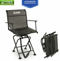 Swivel Hunting Blind Chair Quiet 360 Rotating Armrest Foldable Portable 500 Lbs