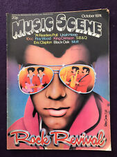 Pop/Rock Music Magazine - MUSIC SCENE Oct 1974 ROY WOOD 10cc MOTT THE HOOPLE