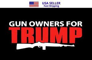 10 Pack TRUMP 2024 FLAG GUN OWNERS FOR TRUMP 2nd Amendment MAGA NRA USA