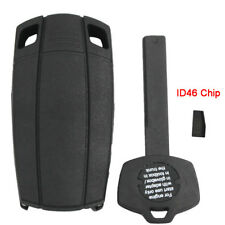 For BMW Emergency Key Shell Case Fob with Blade 3 Buttons with Chip PCF 7936
