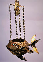 Katherine's Collection Golden Flying Fish w/Propeller Tail Ornament - RARE
