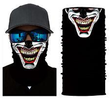Balaclava Neck Gaiter Neckerchief Joker Clown Skull Camo Face Shield Sun Mask
