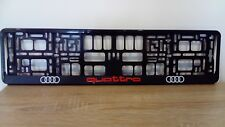 2 x AUDI QUATTRONumber Plate Surrounds Holder Frame New For Cars