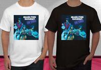 New Grand Funk Railroad On Time Music Black White Men's T-shirt Tee S-2XL
