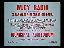 """Roy Orbison Clearwater 16"""" x 12"""" Photo Repro Concert Poster"""