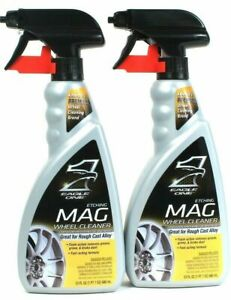 (2) Eagle One For Rough Cast Alloy Fast Act Foam Etching Mag Wheel Cleaner 23 Oz